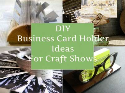 Diy business card holder ideas for craft shows craft maker pro diy business card holder ideas for craft shows reheart Image collections