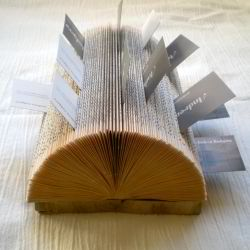 Diy business card holder ideas for craft shows craft maker pro this old book business card holder idea from craft gawker looks great practical and will take you no more than 15 minutes to make colourmoves