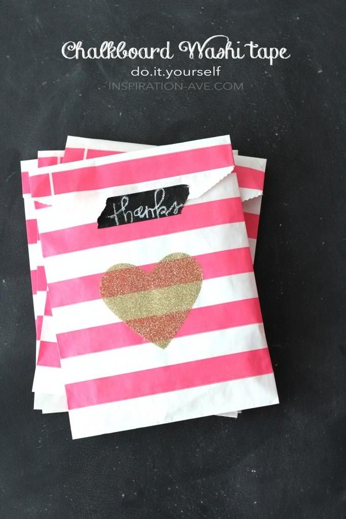 Handmade packaging ideas for your products craft maker pro pink stripes packaging with diy chalkboard tape tutorial by inspiration ave solutioingenieria Images
