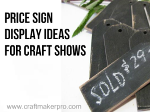 Price Sign Display Ideas For Craft Shows