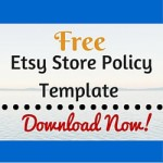 Free Etsy Store Policy Template