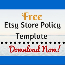 free etsy store policy template craft maker pro With etsy shop policies template