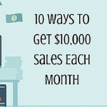 10 Ways To Get $10,000 Sales Each Month