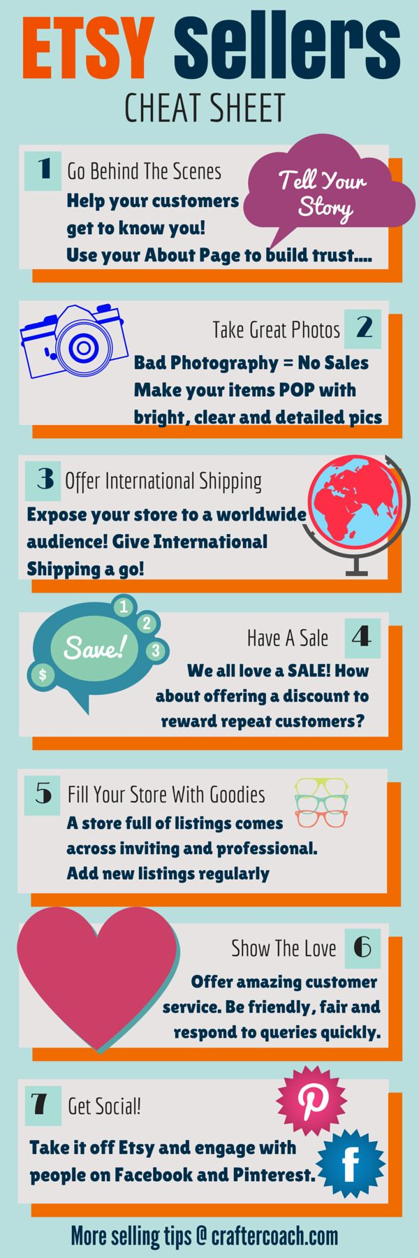 Informative cheat sheet for handmade sellers craft maker for Top selling handcrafted items